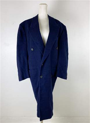 Gianni Versace Italy Designer Cashmere Trench Coat