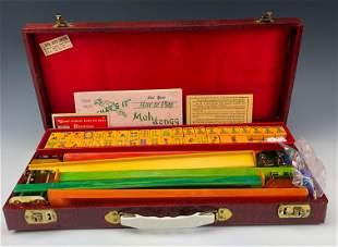 Mahjong Royal Depth 164 Tile Board Game Set w Case