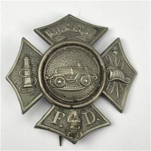 Antique Long Island City Fire Department Badge #10