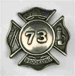Exempt Firemens Sons Association Brooklyn Badge 73
