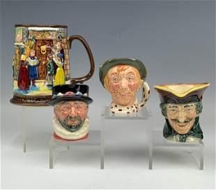 Beswick Royal Doulton Mini Character Toby Mugs LOT