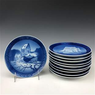 10 Royal Copenhagen Danish Porcelain Wall Plates