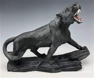 Faberge Style Black Jasper Werewolf Wolf Sculpture