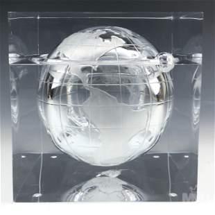 Alessandro Albrizzi Lucite World Globe Ice Bucket