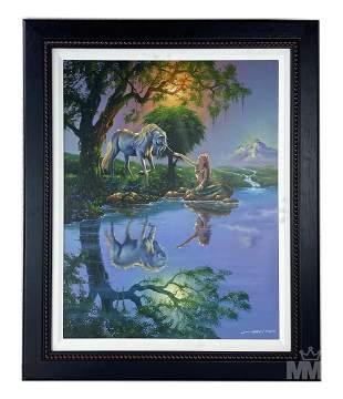 Jim Warren b.1949 LE Signed Magical Realism Giclee