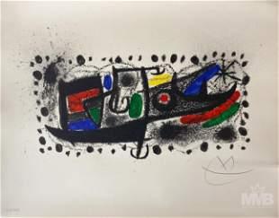 Joan Miro 1893-1983 Catalonia Abstract Lithograph