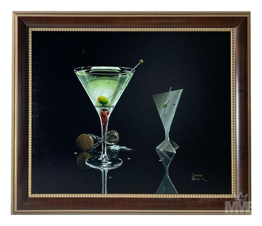 Michael Godard b1958 Abstract Cocktail Hour Giclee