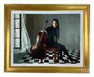 Luding Meng (Chinese, b.1962) Realist Art Portrait