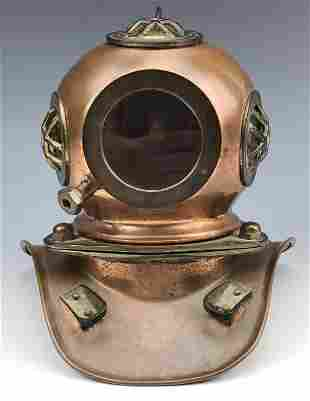 Copper and Brass Deep Sea Diving Hard Hat Helmet