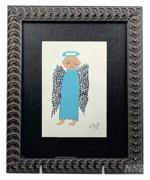 Billy Fred Hellams (1955-2019) Folk Art Painting