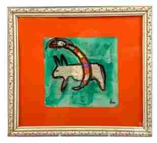 Karl Mullen b1954 Irish Folk Art Outsider Painting