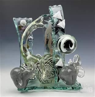 Murano Studio Art Glass Elephant Sculpture SIGNED