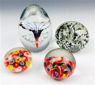 Daum French & Modern Studio Art Glass Paperweights