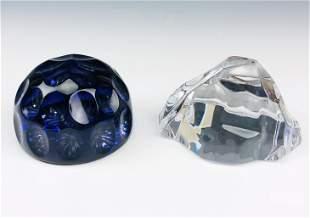 Webb Corbett & Val Lambert Art Glass Paperweights