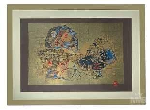 Hoi Lebadang b.1922 Modern Abstract LE Lithograph