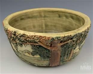 Weller Pottery Forest Landscape Art Deco Vase Bowl