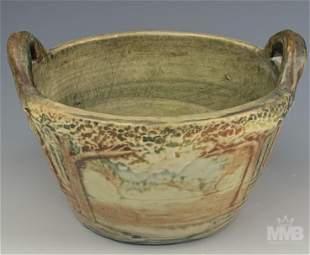 Weller Forest Landscape Art Pottery Planter Vase