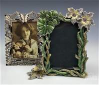 Enamel Butterfly Bejeweled Picture Photo Frame Lot