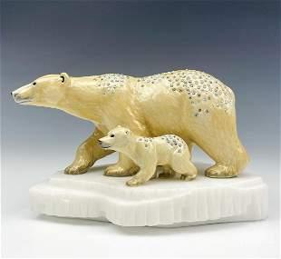 Jay Strongwater Berenger & Boo Polar Bear Figurine