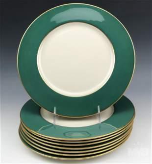 Lenox Sage Green Porcelain Dinner Plates Set Of 8