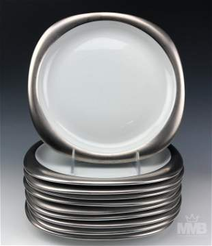 Rosenthal Suomi Platinum Dinner Plates Set Of 12