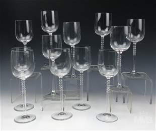 Rosenthal Century Red Wine Glass Estate Lot of 12