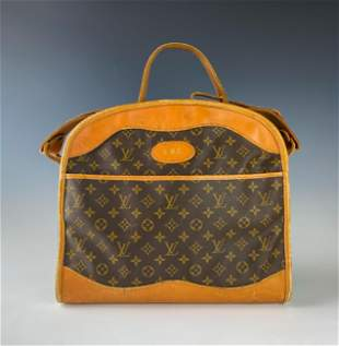 "Louis Vuitton Monogram LV 15"" Leather Travel Bag"