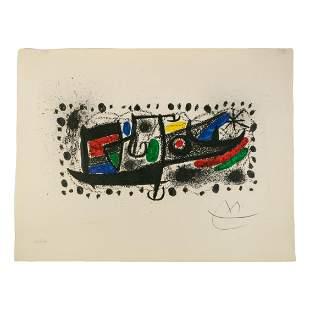 Joan Miro (Spanish,1893-1983) Catalonia Lithograph