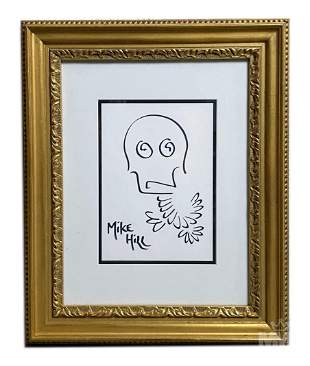 Michael Hill (American b.1974) Doodle Bird Drawing