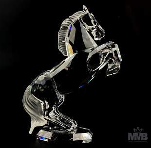 Swarovski Crystal White Horse Stallion Figurine