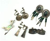 Mexican & Southwestern Sterling Silver Jewelry Lot