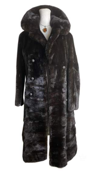 Obstfeld Bros 3/4 Length Dark Brown Mink Fur Coat
