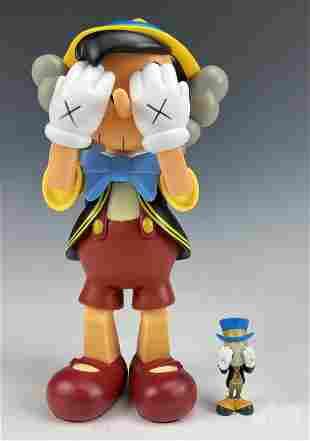 KAWS Disney Pinocchio & Jiminy Cricket Figures