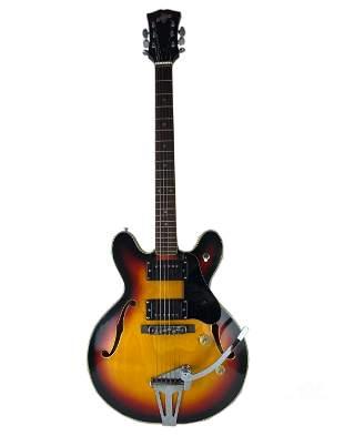 Bruno Conqueror Hollow Body Electric Guitar & Case