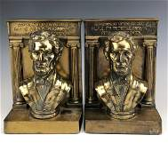 Bradley & Hubbard Pair of Metal Lincoln Book Ends