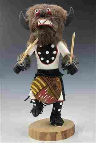 Kachina Doll Buffalo Dancer Wood Figure Sculpture