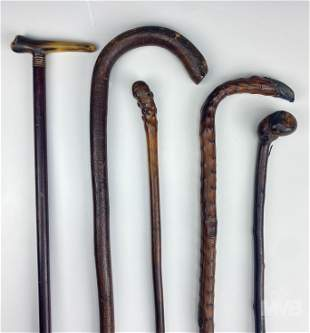 Natural Knot Wood Walking Sticks Cane Collection