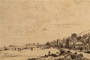 Maxime Lalanne 1827-1886 SIGNED Landscape Etching