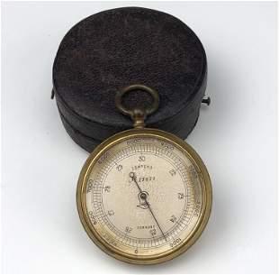 Lufft German Pocket Altimeter Barometer with Case