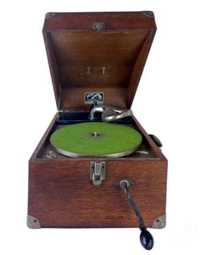 Victor Mahogany Case VV-50 Suitcase Phonograph