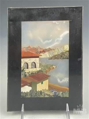 Italian Pietra Dura Inlaid Mosaic Stone Picture