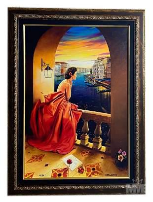 Orlando Quevedo (b1970) Cuban Surreal Art Painting