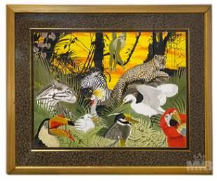Mystery Artist Wildlife Animal Watercolor Painting