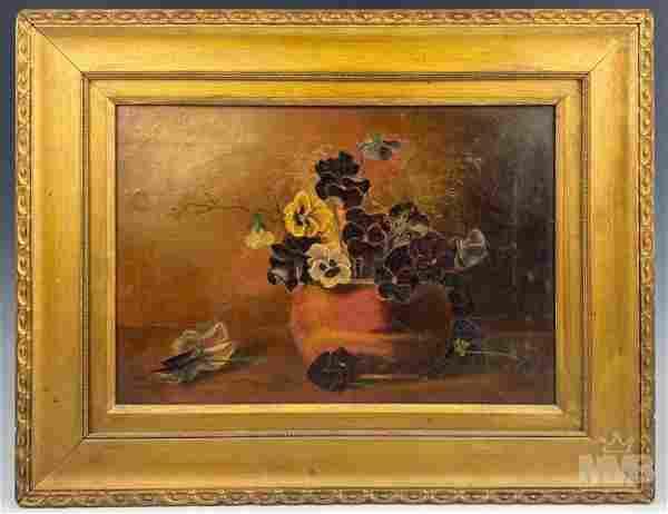 Floral Oil On Canvas Still Life Painting FRAMED