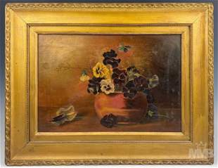 Floral Oil On Canvas Still Life Painting FRAMED