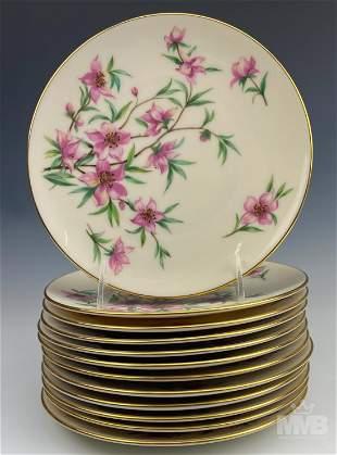 12 Lenox Fine Porcelain Peachtree Salad Plate Set
