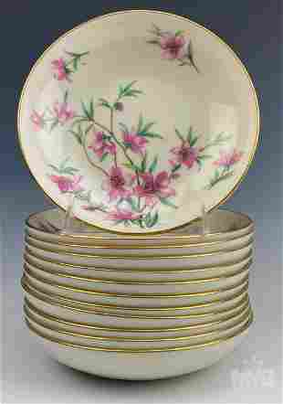 12 Lenox Porcelain Peachtree Coupe Soup Bowl Set