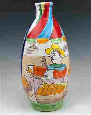 La Musa Italy Desimone Style Painting Pottery Vase