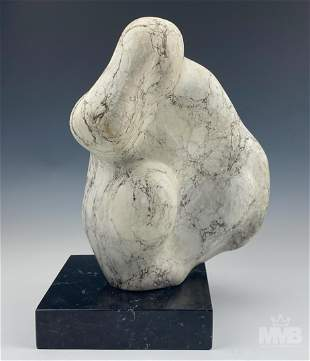 Modernist Marble Figural Abstract Art Sculpture