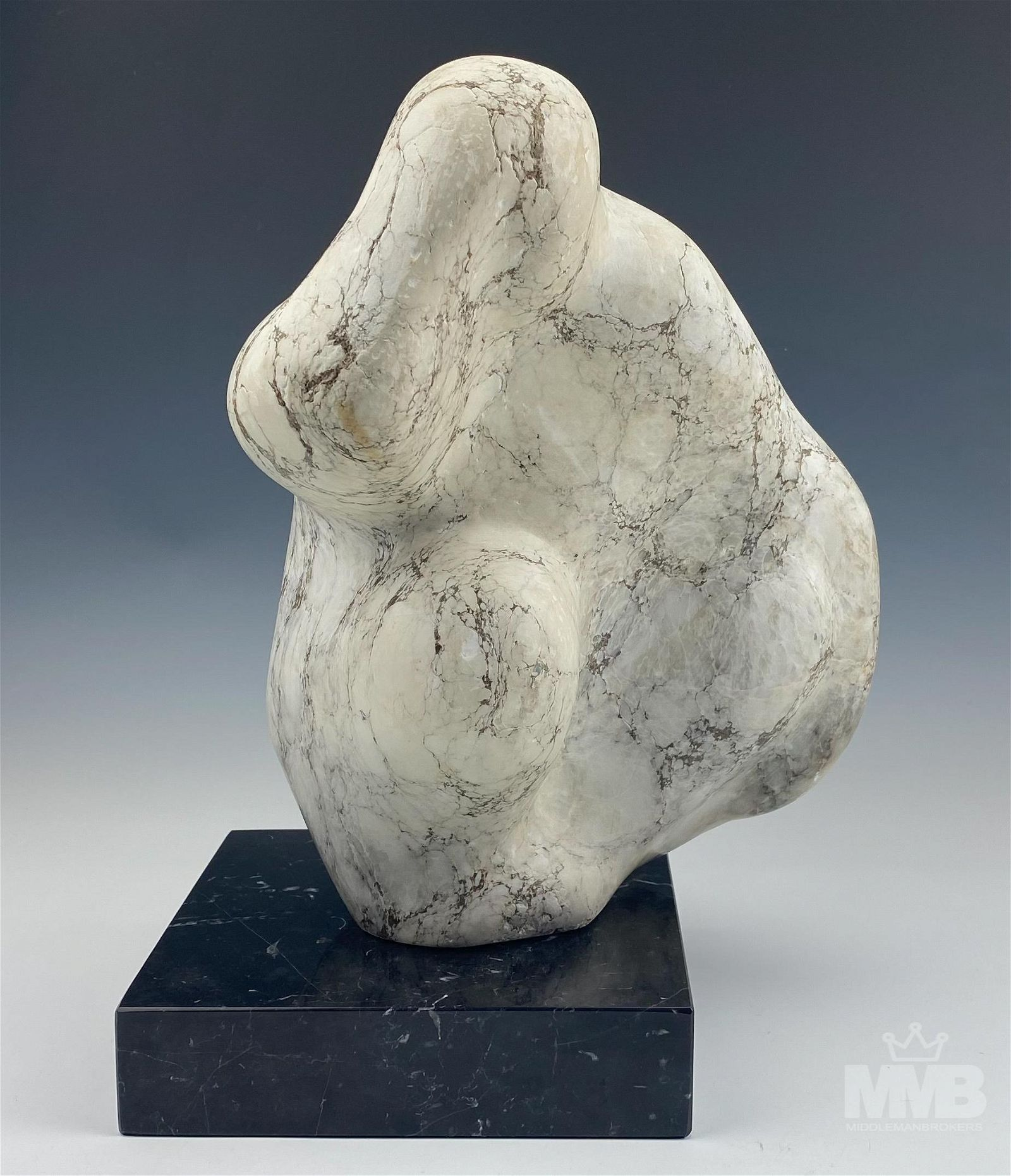 Modernist Marble Figural Abstract Art Sculpture